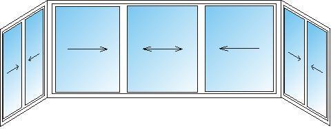 """Рама пвх """"ласточкин хвост"""" для балкона от компании окна abc ."""