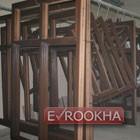 Готовые деревянные каркасы после окрашивания.